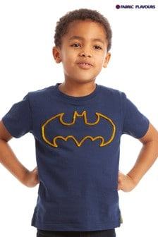 Tricou cu logo țesut Fabric Flavours Batman® albastru