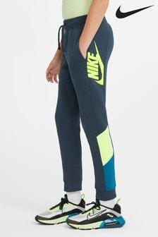 Синие спортивные брюки Nike Ampflify