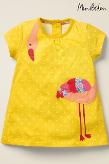 Boden Yellow Daffodil Spot Dress