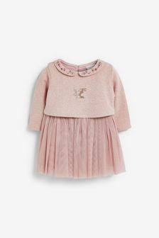 Bunny Embroidery Detailed Tutu Dress (0mths-2yrs)