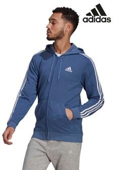 adidas 3條紋拉鍊連帽上衣