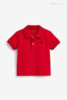 Красная рубашка поло с логотипом Ralph Lauren
