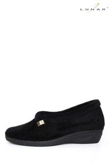 حذاء للبيت أسود نسائي منLunar