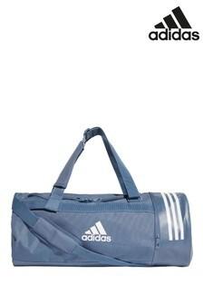 Средняя спортивная сумка чернильного цвета с 3 полосками adidas