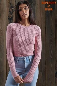 Superdry Pink Croyde Knit Jumper