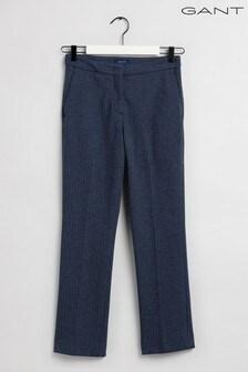GANT Blue Herringbone Jersey Tailored Pants