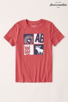 Abercrombie & Fitch Red T-Shirt