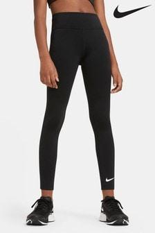 Čierne legíny s vysokým pásom Nike Performance One