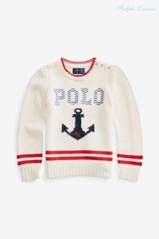 Ralph Lauren Cream Polo Sweater
