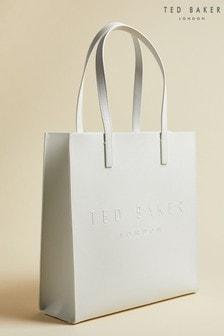 Ted Baker crèmewitte Micon grote Icon tas met perforaties