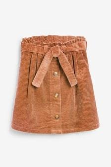 تنورة قماش مخملي مضلع (3-16 سنة)