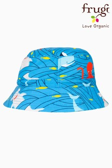 Frugi Oeko Tex Recycled Swim Hat in Shark and Whale Print