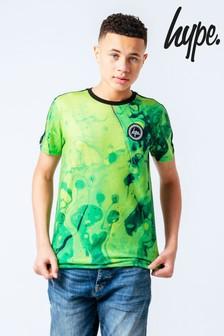 Camiseta con diseño neón marmolado de Hype.