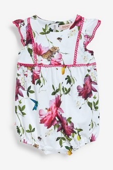 Baker by Ted Baker Baby Girls Floral Romper