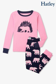 Hatley Kinder Sister Bear Pyjama-Set, Pink