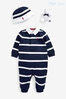 Ralph Lauren Navy Baby Gift Set