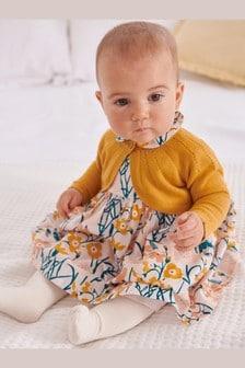 Нарядное платье, кардиган и колготки (комплект) (0 мес. - 2 лет)