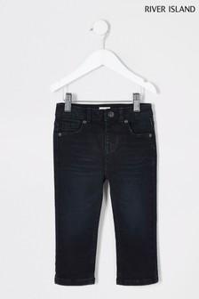 River Island Dark Blue Jake Regular Inky Jeans