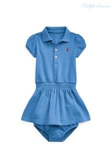 שמלת פולו כחולה שלRalph Lauren