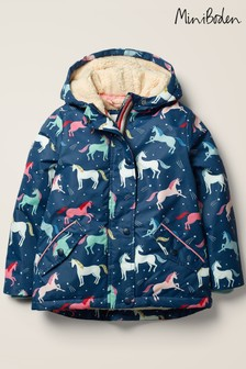Boden Navy Sherpa-Lined Anorak