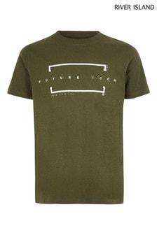 Zelené tričko River Island Future Icon