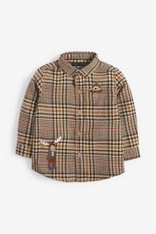 Классическая рубашка с длинным рукавом в клетку (3 мес.-7 лет)