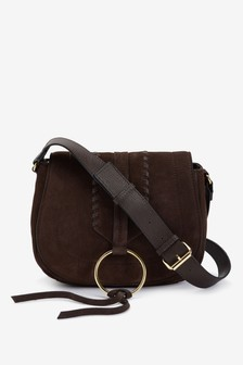 Leather Whipstitch Saddle Bag