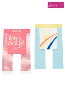 Joules Pink Lively Leggings 2 Pack