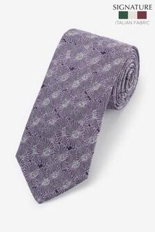 עניבה פרחונית 'Made In Italy' של Signature