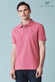 Polo rosa con diseño de piqué clásico de Crew Clothing