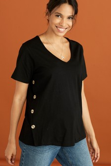 Maternity Nursing Button Side T-Shirt