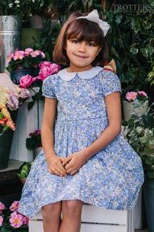 فستان أزرق طباعةBetsy Liberty منTrotters London