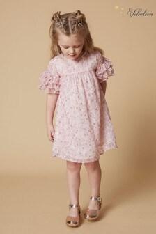 שמלה עם שרוול מלמלה דגםGinny שלVelveteen