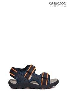 Granatowo-pomarańczowe chłopięce sandały Geox Junior Boys R Strada