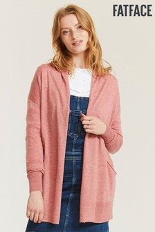 FatFace Amber Edge To Edge Strickjacke, Pink