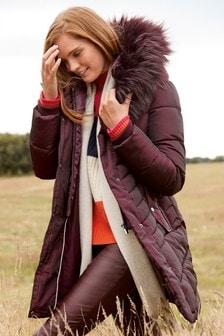 Halo Faux Fur Padded Jacket