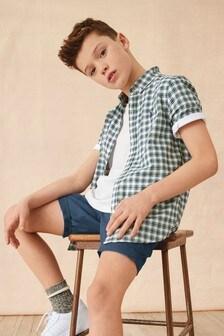 قميص أكسفورد مربعات (3-16 سنة)