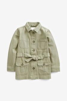 Длинная куртка с поясом (3-16 лет)