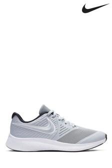 Nike Run Grey/White Star Runner Youth Trainers