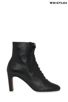 מגפיים שחורים של Whistles דגם Dahlia עם שרוכים