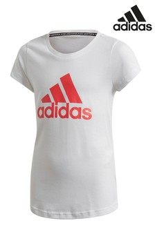 adidas White/Pink Must Have T-Shirt