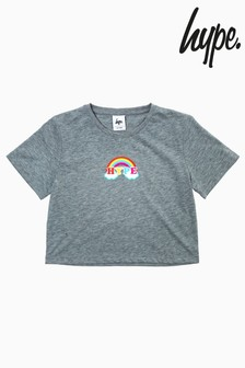 Hype. Rainbow Crop T-Shirt
