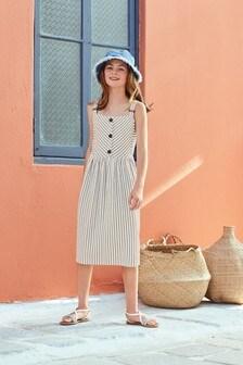 Mittellanges Jerseykleid mit Textur (3-16yrs)