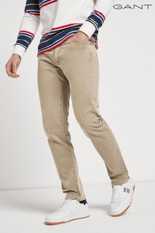 GANT Arley沙色斜紋布牛仔褲