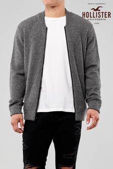 Hollister Grey Knitted Bomber