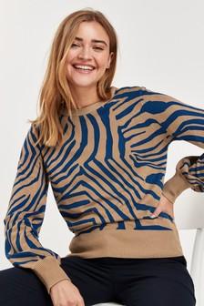 Pullover mit voluminösen Ärmeln
