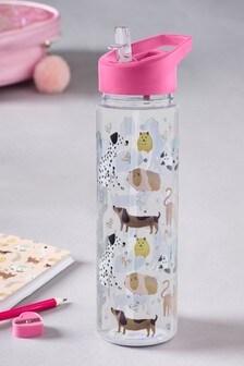 Glitter Animal Water Bottle