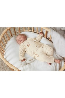 Embroidered Knitted Frill Detailed Romper (0mths-2yrs)