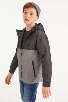 拼色連帽厚夾克 (3-16歲)