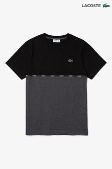 Lacoste® T-Shirtmit aufgesetzten Streifen